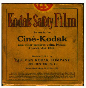 16mm Kodak Safety Cine Kodak film